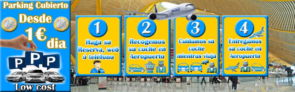 parking aeropuerto Madrid t1 t2 t3 y t4