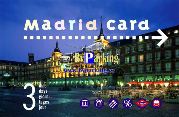 """""""Madrid tarjeta card ahorrando dinero con byparking"""""""